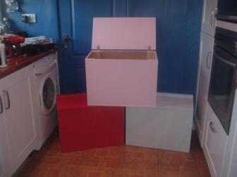 2ft Toy Boxes - Almost Any Colour - Named Lid - Sturdy Build