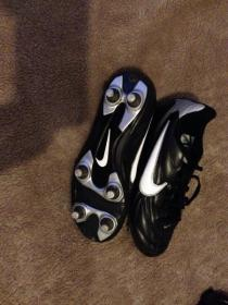 Boys Nike football boots and shin pads