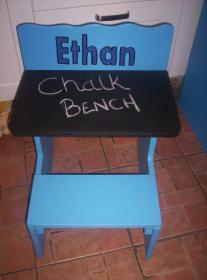 RNR Wood Product - Chalk Bench - for toddlers