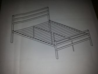 a brand new mettle double bed frame