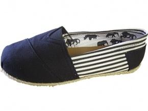 Canvas espadrilles with leather sole