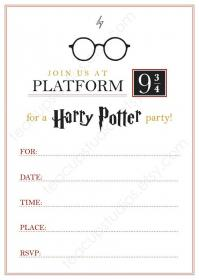 Pack Of 10 Harry Potter Invitations