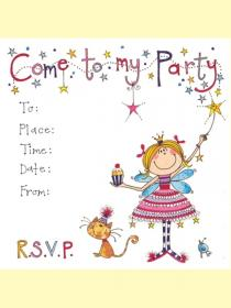 Pack Of 10 Princess Invitations
