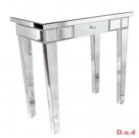 mirrored 1 drawer console table