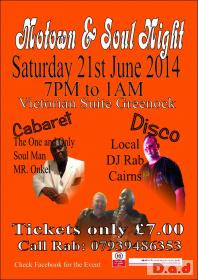 Motown & Soul Night in Inverclyde