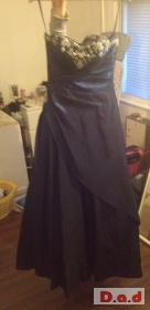 prom dresses one light blue comes with the tiara and hoop sapphire blue  comes with shawl