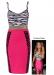 Celebrity Inspired Animal Bodycon Dress Christina milian