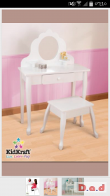 GLTC KidKraft Vanity Table And Stool white Brand New tatty box