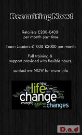RECRUITING SELF MOTIVATED PEOPLE/COUPLES TO JOIN OUR BUSINESS