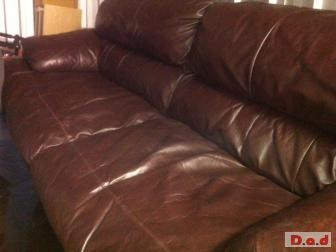 FREE BROWN LEATHER SOFAS