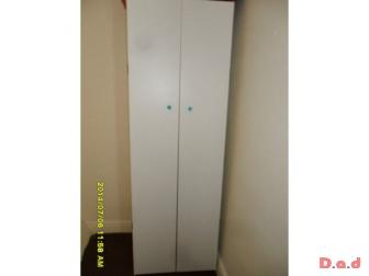 White Wardrobe and free matching set of drawers