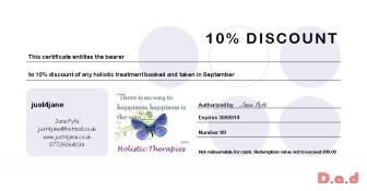 10% discount on all treatments in September