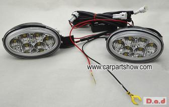 HONDA CRV DRL 2010 car LED Daytime Running Lights Car headlight parts Fog lamp cover LED-201HD