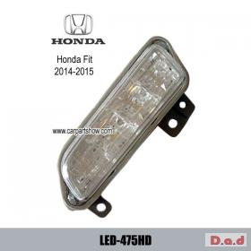 HONDA Fit / JAZZ 14-15 DRL LED Daytime Running Lights Car headlight parts Fog lamp cover LED-475HD