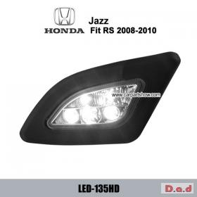 HONDA Fit RS / JAZZ RS 2008-2010 DRL LED Daytime Running Lights Car headlight parts Fog lamp cover LED-135HD