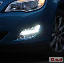 Opel Astra DRL LED Daytime Running Lights Car headlight parts Fog lamp cover LED-198PL