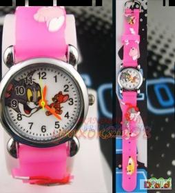 Childs' Pink Tom and Jerry Watch