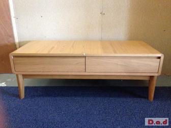 2 drawer oak effect coffee table